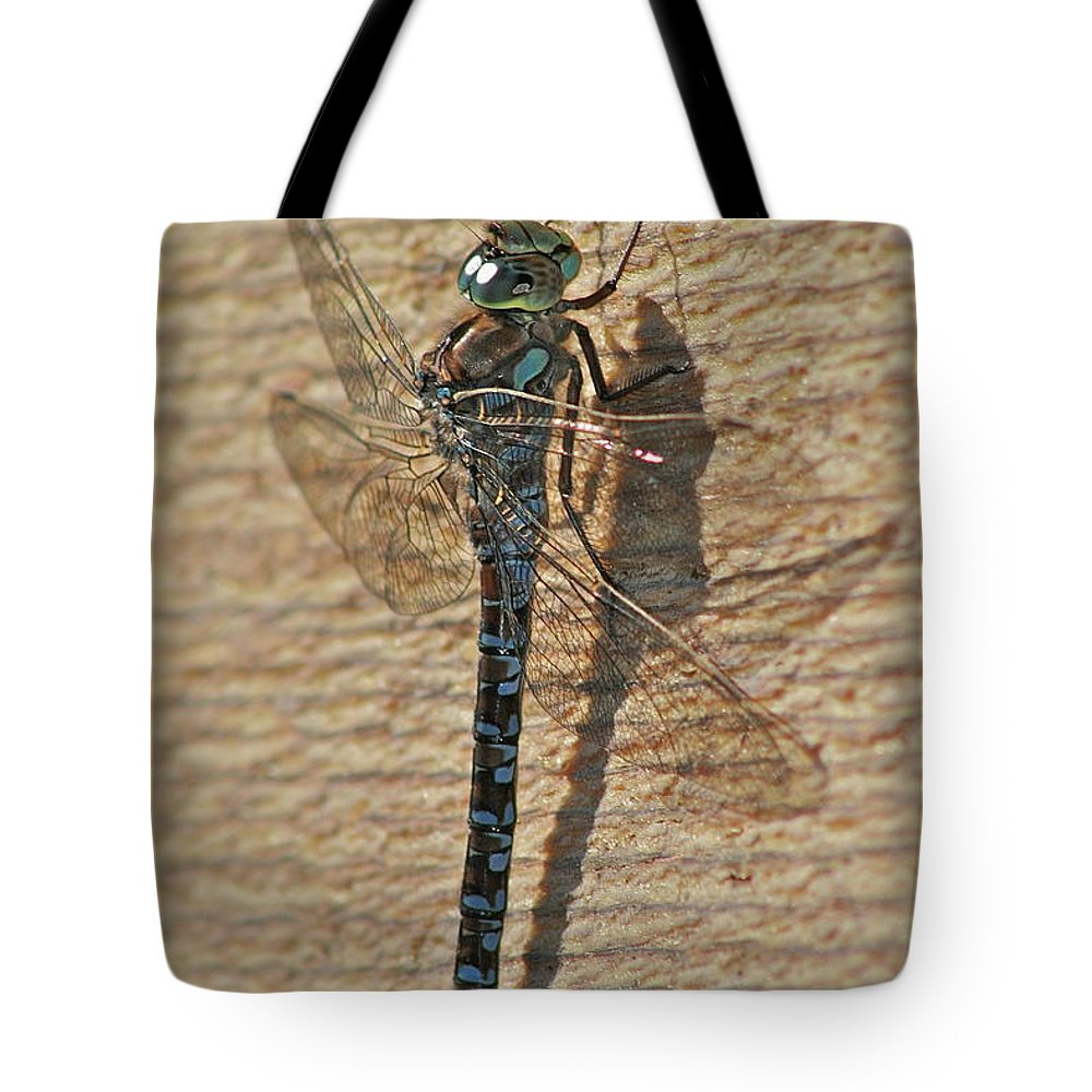 Dragon Fly Tote Bag featuring the photograph The Dragon by Rick Monyahan