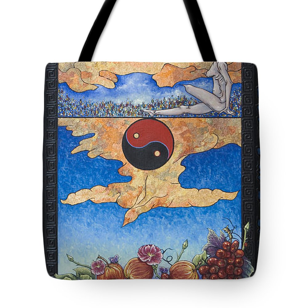 Karma Tote Bag featuring the painting The Dream by Judy Henninger