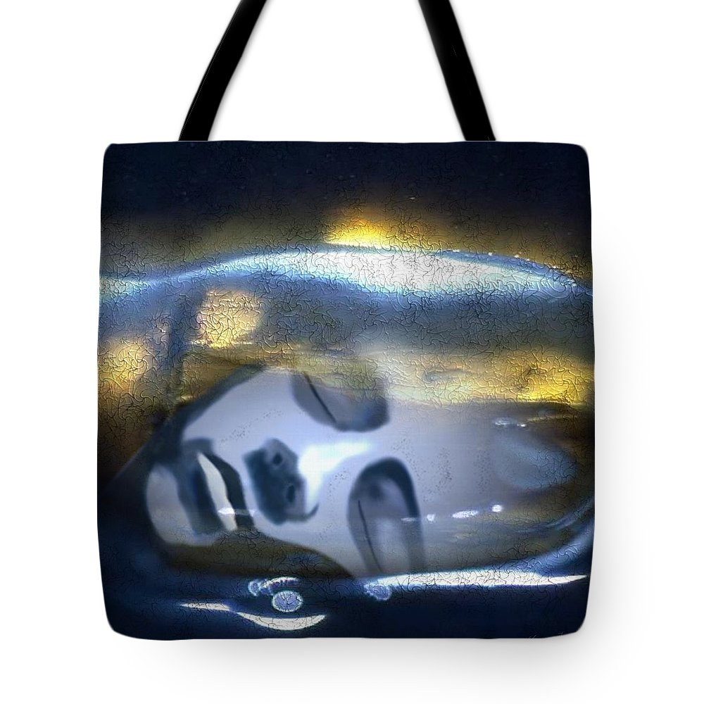 Dream Sky Universe Methaphysics Aura Afterlife Tote Bag featuring the digital art The Dream by Veronica Jackson