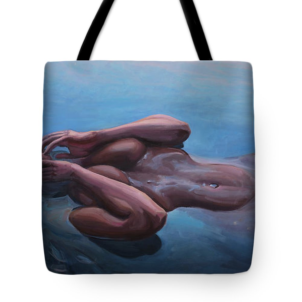 Lady Tote Bag featuring the painting The Dreaming Mermaid by Marco Busoni