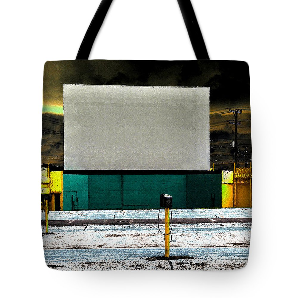 Art Tote Bag featuring the painting The Drive In by David Lee Thompson