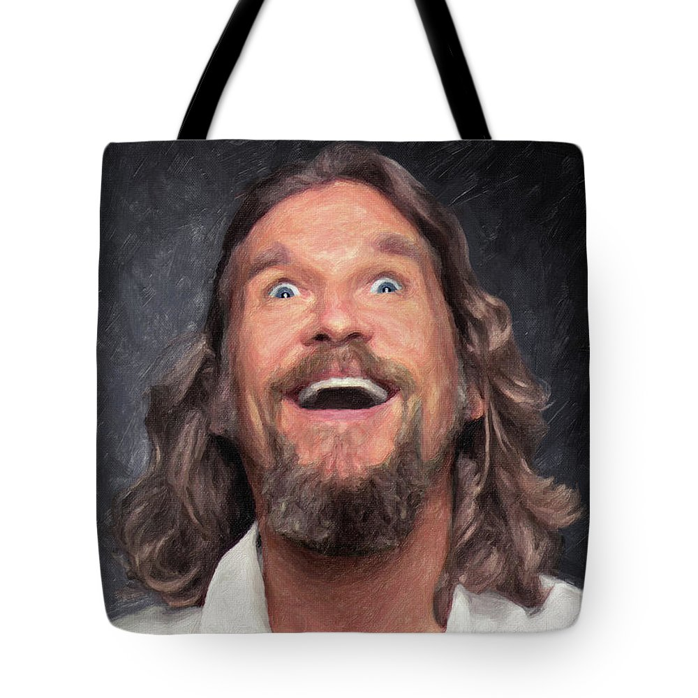 The Dude Tote Bag featuring the painting The Dude by Zapista