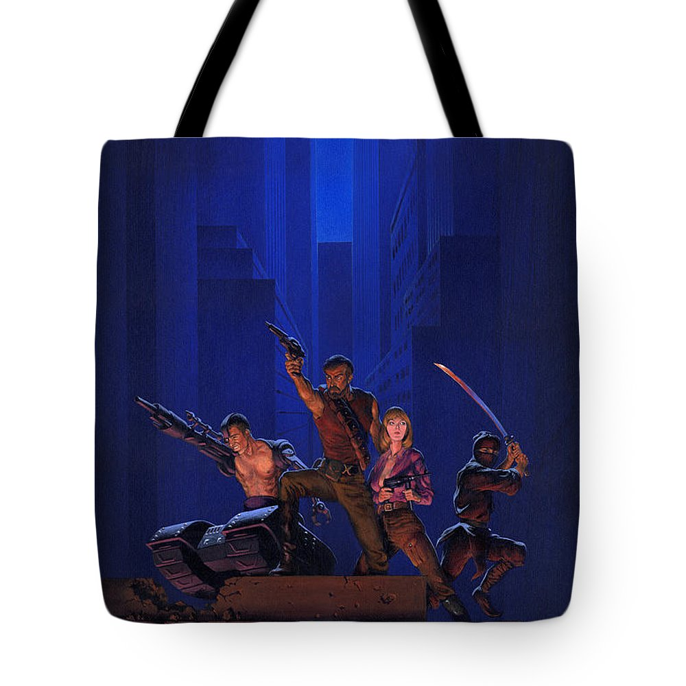 Space Tote Bag featuring the painting The Eliminators by Richard Hescox