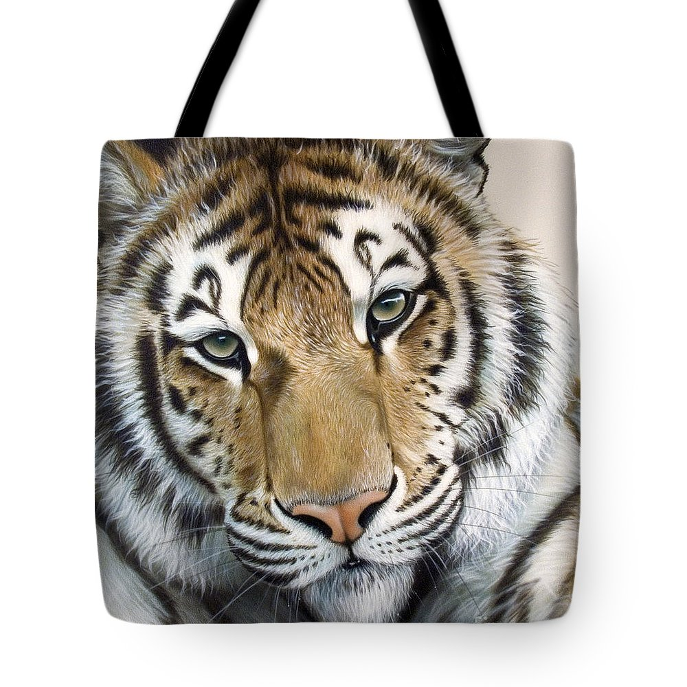 Acrylic Tote Bag featuring the painting The Embrace by Sandi Baker