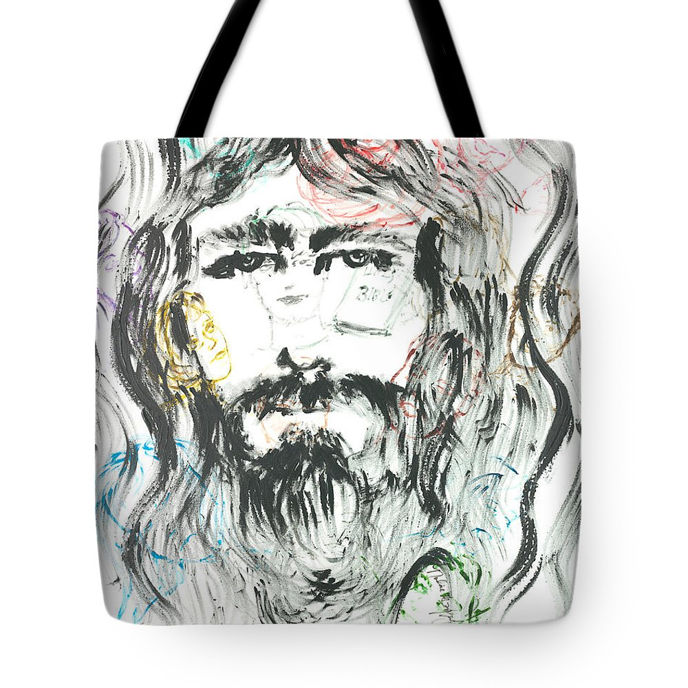 Jesus Tote Bag featuring the painting The Emotions Of Jesus by Nadine Rippelmeyer