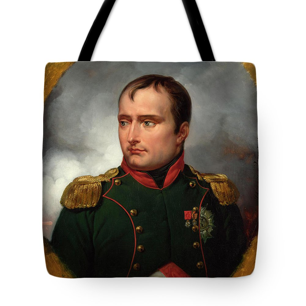 Portraiture Tote Bag featuring the painting The Emperor Napoleon I by Emile-Jean-Horace Vernet