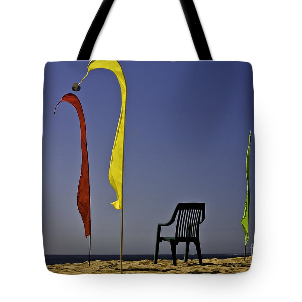 Beach Tote Bag featuring the photograph The empty chair by Sheila Smart Fine Art Photography
