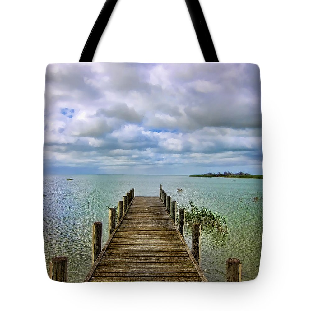 Jetty Tote Bag featuring the photograph The End by Douglas Barnard