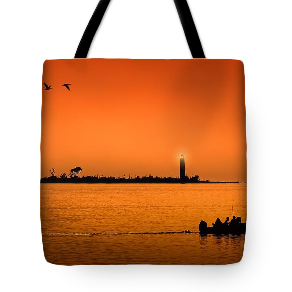Twilight Tote Bag featuring the photograph The End Of A Wonderful Day. by Jeff S PhotoArt