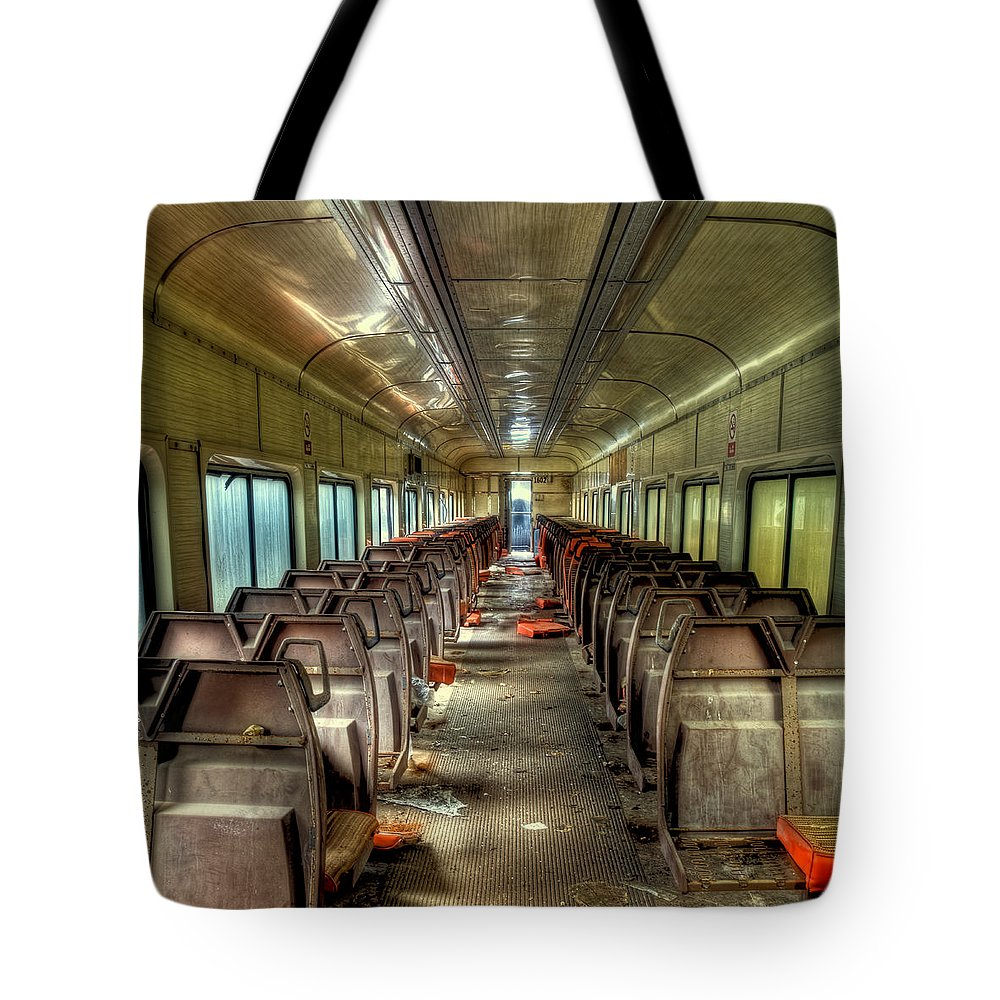 The End Of The Line Tote Bag featuring the photograph The End Of The Line by David Patterson