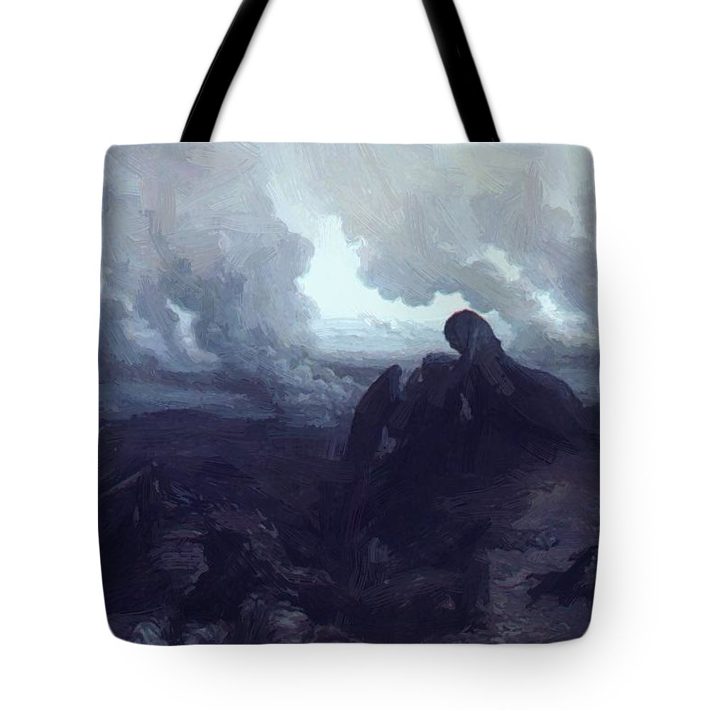 The Tote Bag featuring the painting The Enigma 1871 by Dore Gustave