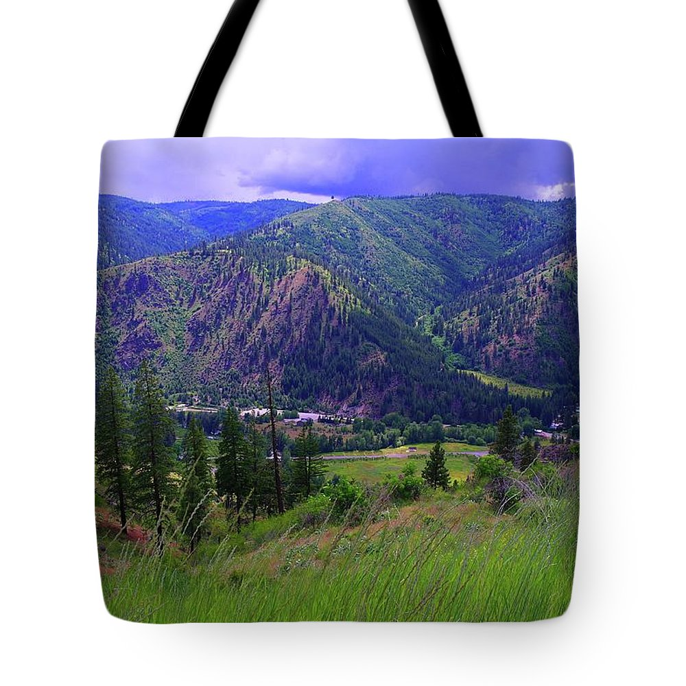 Views Tote Bag featuring the photograph The Entiat Valley by Jeff Swan