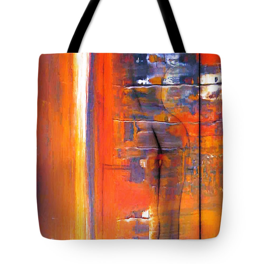 Dark Tote Bag featuring the painting The Escape by Steve K