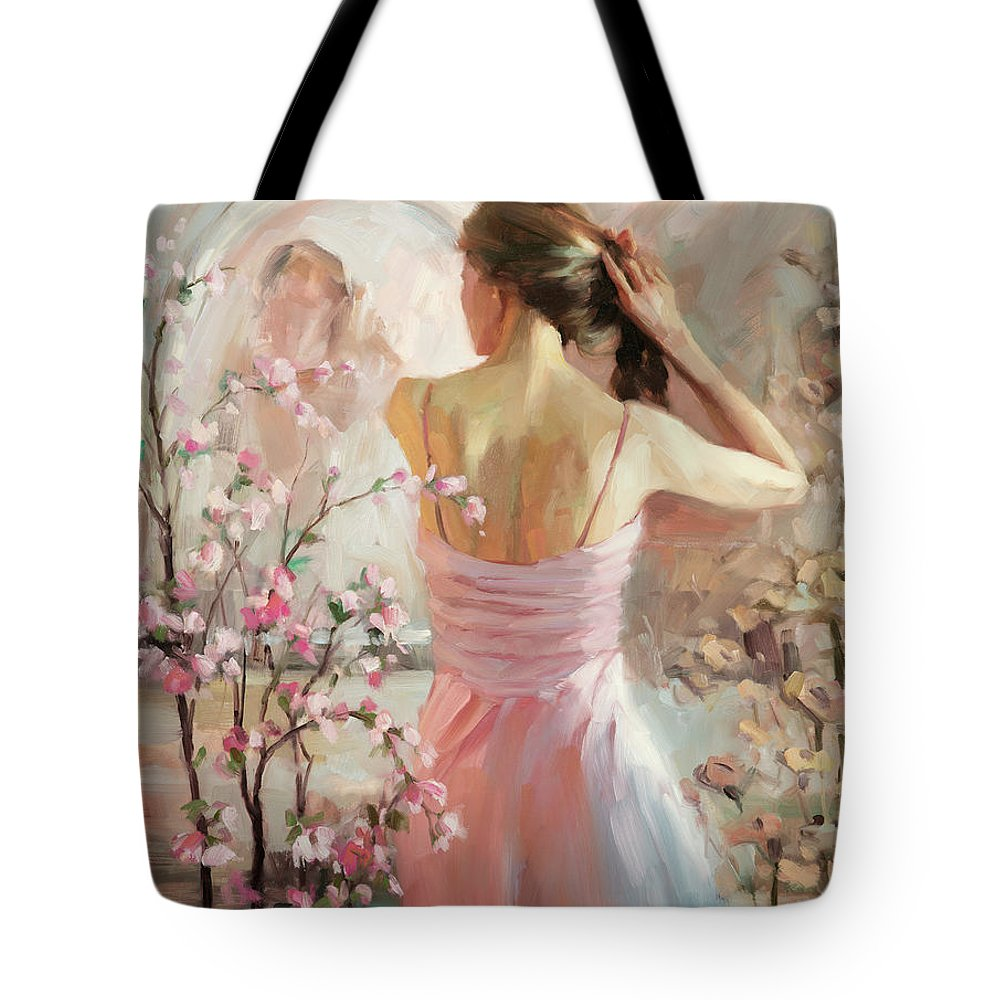 Woman Tote Bag featuring the painting The Evening Ahead by Steve Henderson