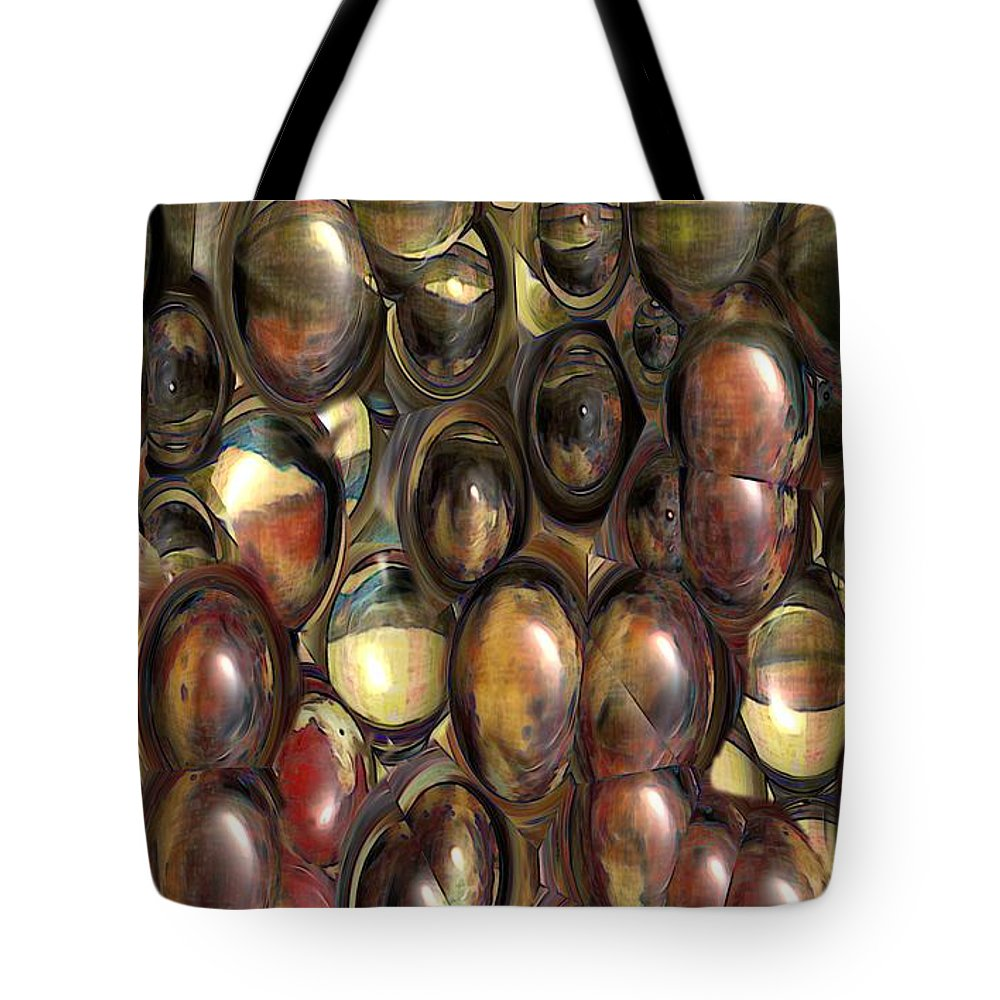 Abstract Tote Bag featuring the painting The Eye Bank by RC DeWinter