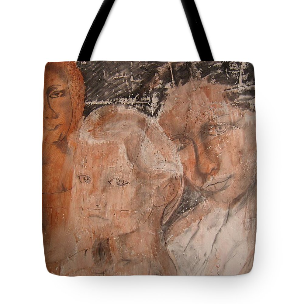 Beautiful Tote Bag featuring the drawing The Eyes of Alianna by J Bauer