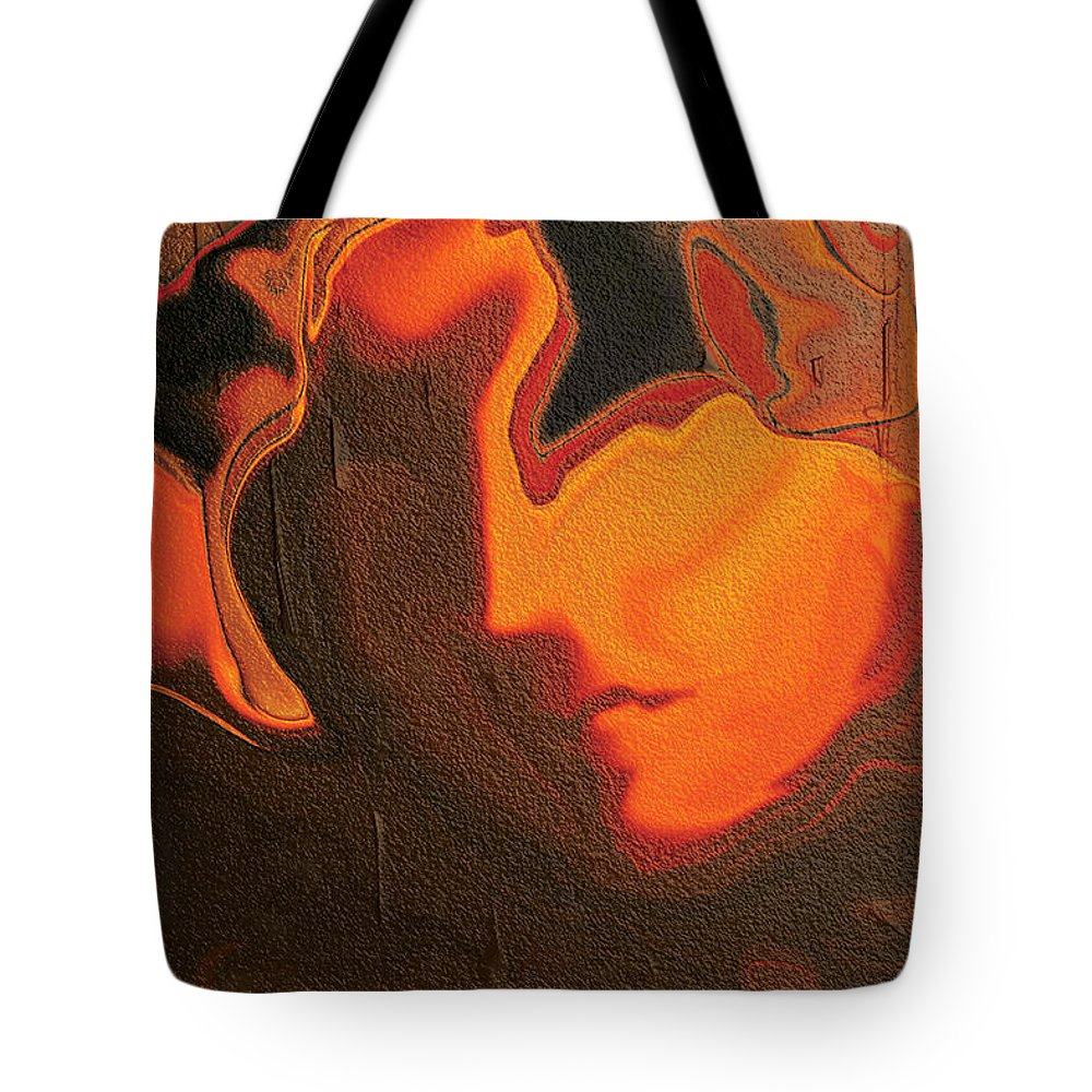 Abstract Tote Bag featuring the digital art The Face 2 by Rabi Khan