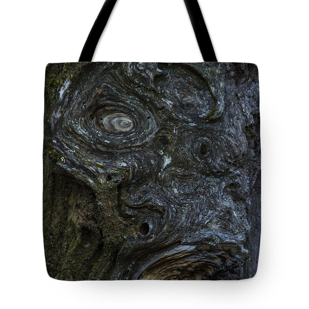 Wood Tote Bag featuring the photograph The Face Signed by Hans Franchesco