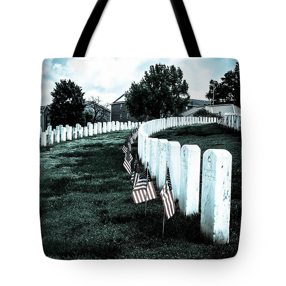 Tote Bag featuring the digital art The Fallen by Sunshine Nelson