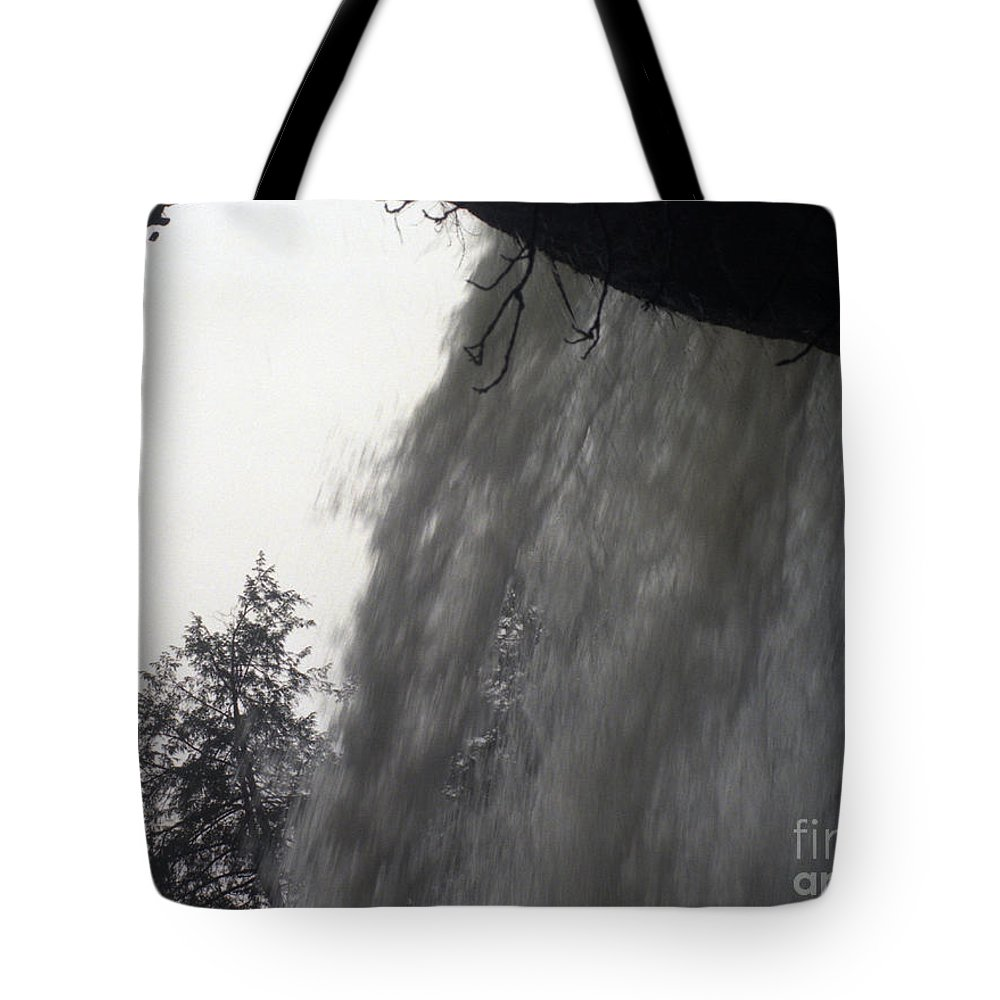 Waterfalls Tote Bag featuring the photograph The Falls by Richard Rizzo