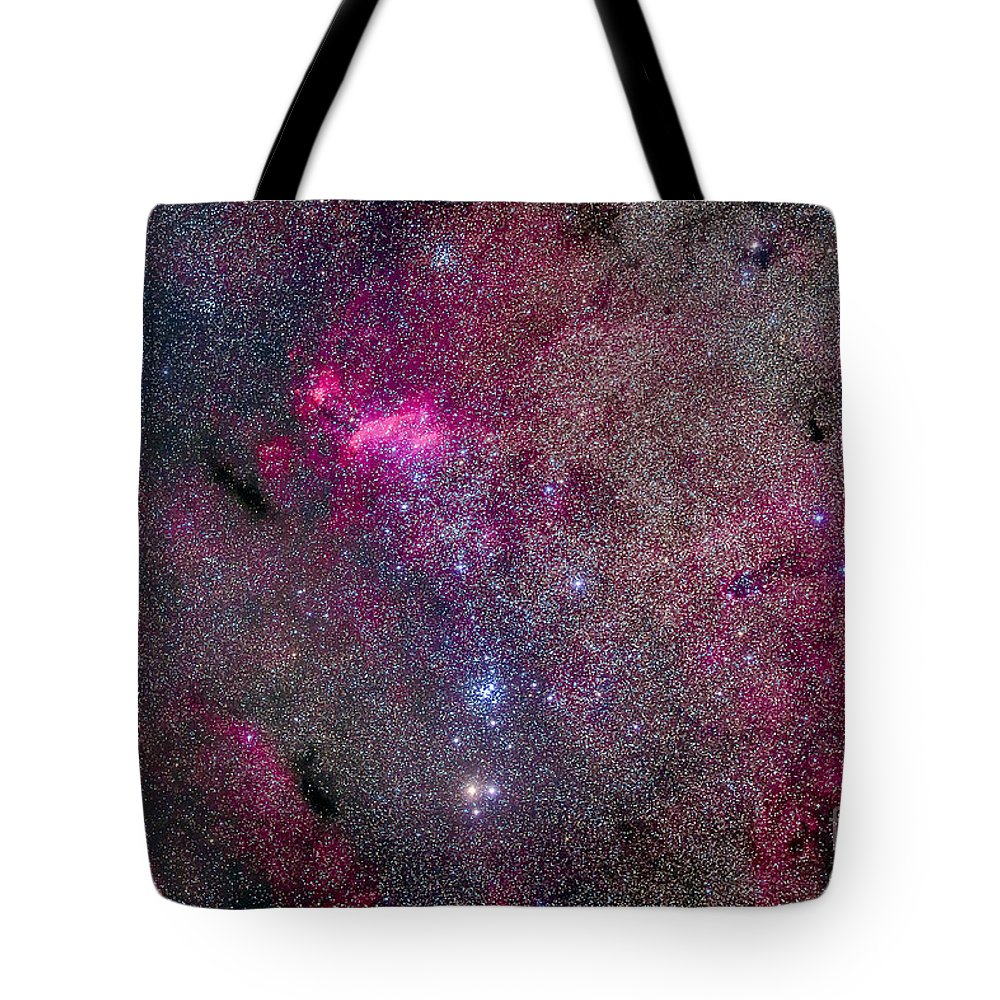 Emission Nebula Tote Bag featuring the photograph The False Comet Cluster Area by Alan Dyer