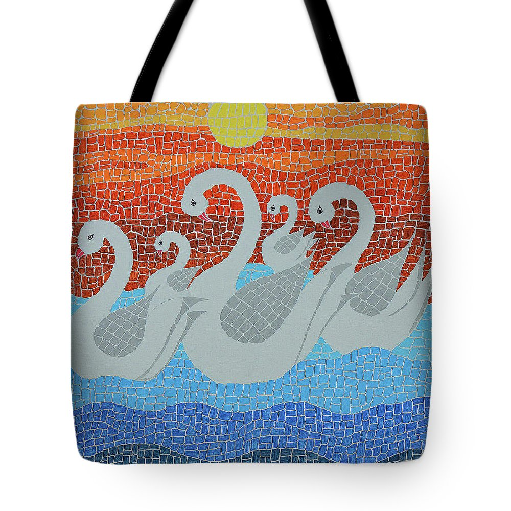 Art Tote Bag featuring the painting The Family by Laxmi Khire