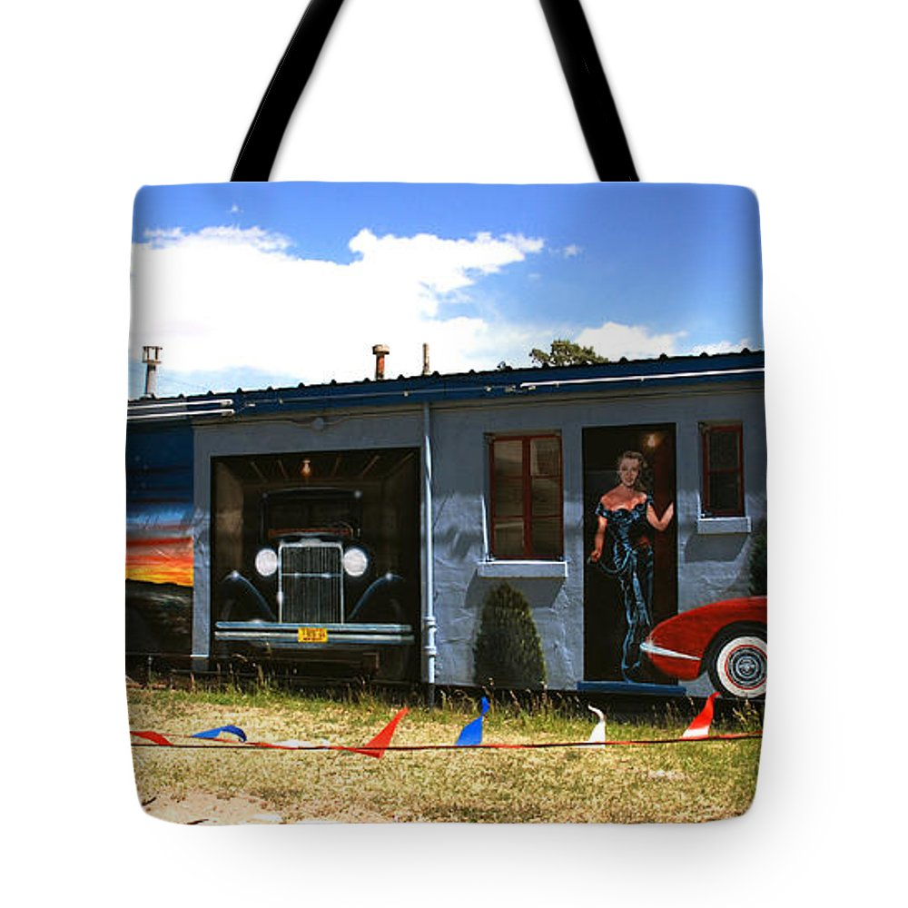 Route 66 Tote Bag featuring the photograph The Famous Murals On Route 66 by Susanne Van Hulst