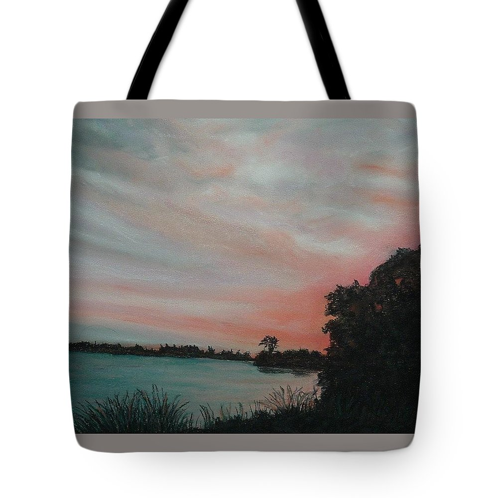Pastel Tote Bag featuring the painting The Far Elm by Lynn ACourt