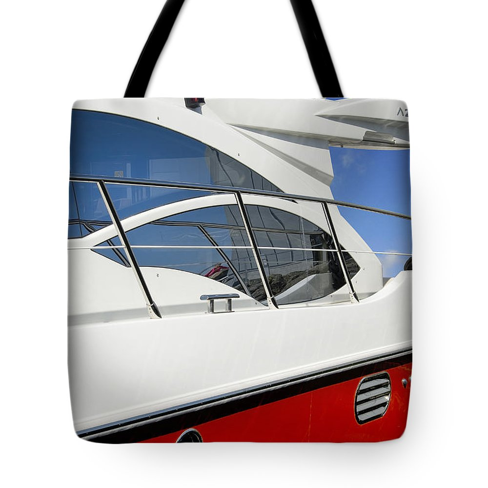 Boat Tote Bag featuring the photograph The Fast Lane by Robert Lacy