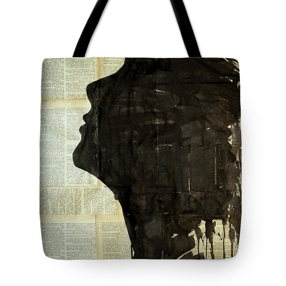 Woman Tote Bag featuring the painting The Female Silhouette . by Marat Cherny