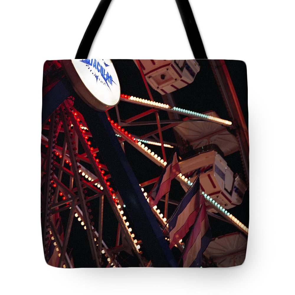 Carnival Tote Bag featuring the photograph The Ferris Wheel by Ayesha Lakes