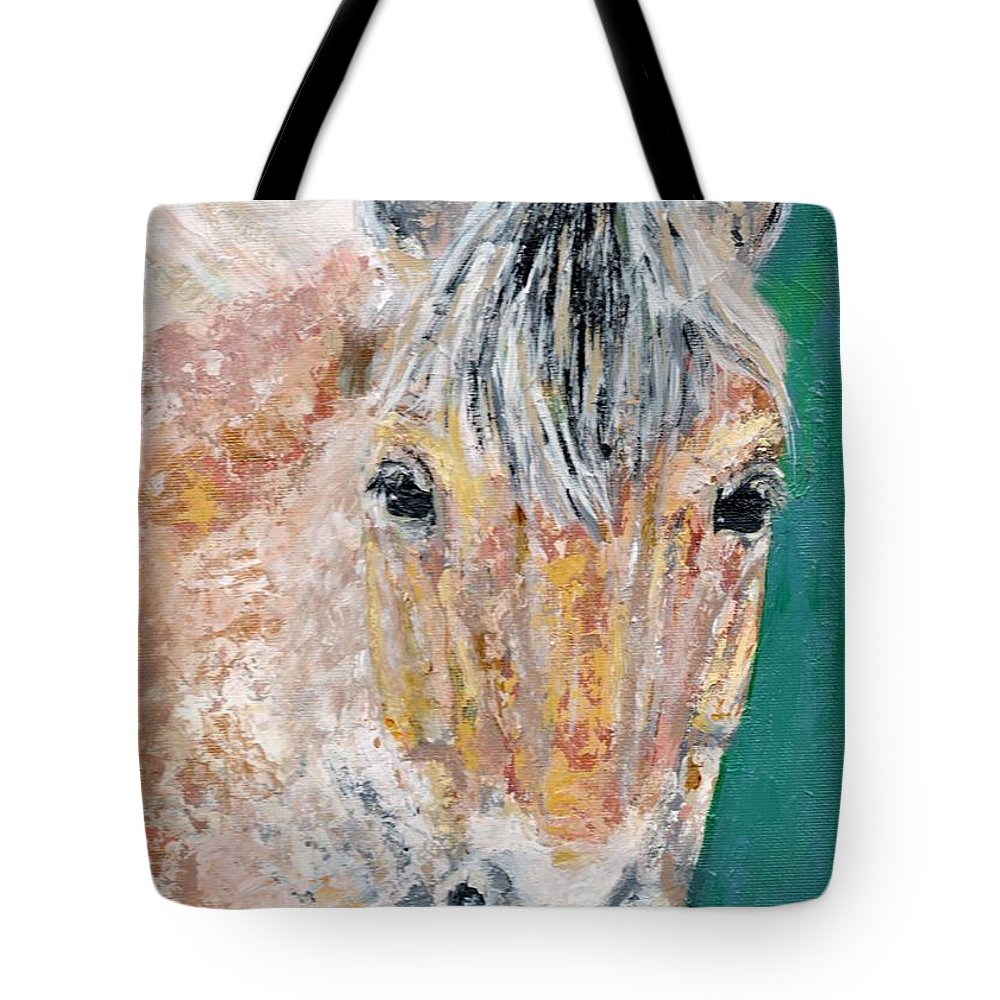 Fijord Horse Tote Bag featuring the painting The Fijord by Frances Marino