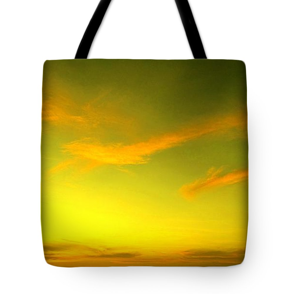 Sunset Tote Bag featuring the photograph The Final Light Is Gold by Ian MacDonald