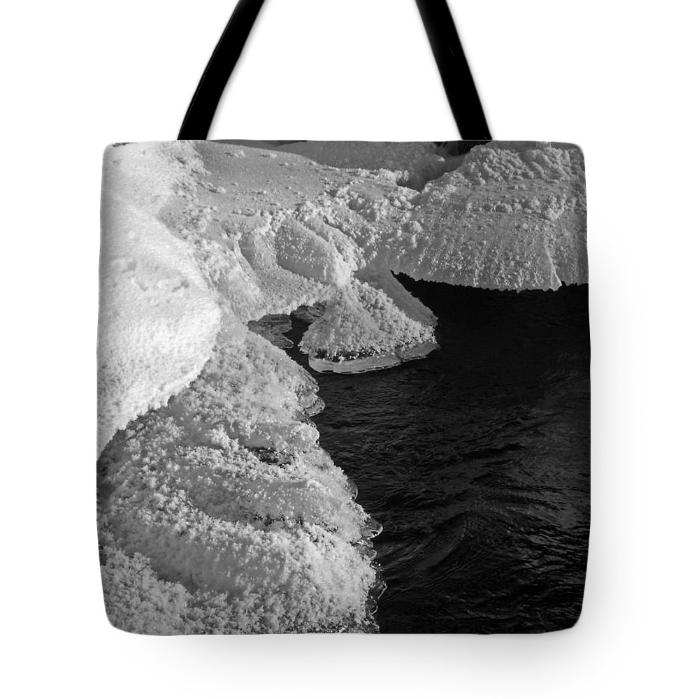 North America Tote Bag featuring the photograph The First Ice by Juergen Weiss