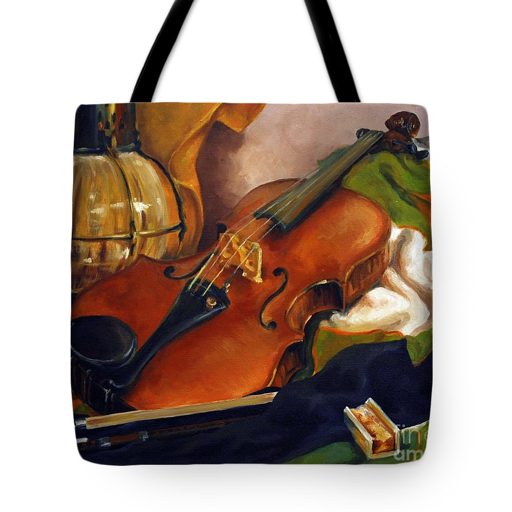 Oil Tote Bag featuring the painting The First Violin by Suzanne McKee