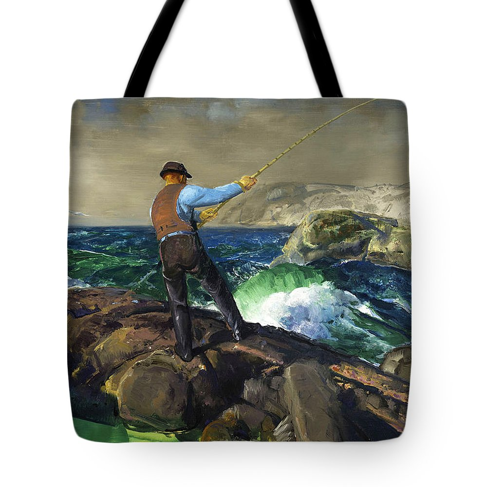 George Bellows Tote Bag featuring the painting The Fisherman by George Bellows
