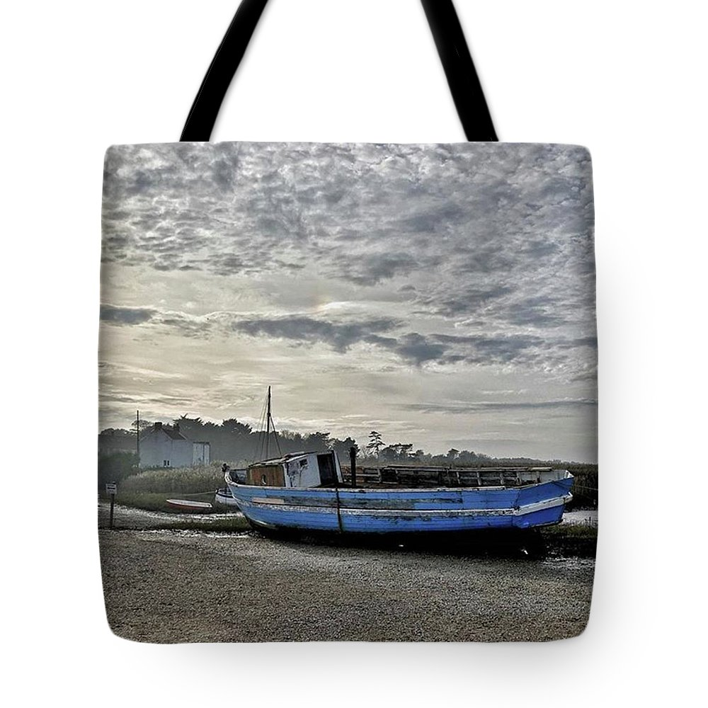 Beautiful Tote Bag featuring the photograph The Fixer-upper, Brancaster Staithe by John Edwards