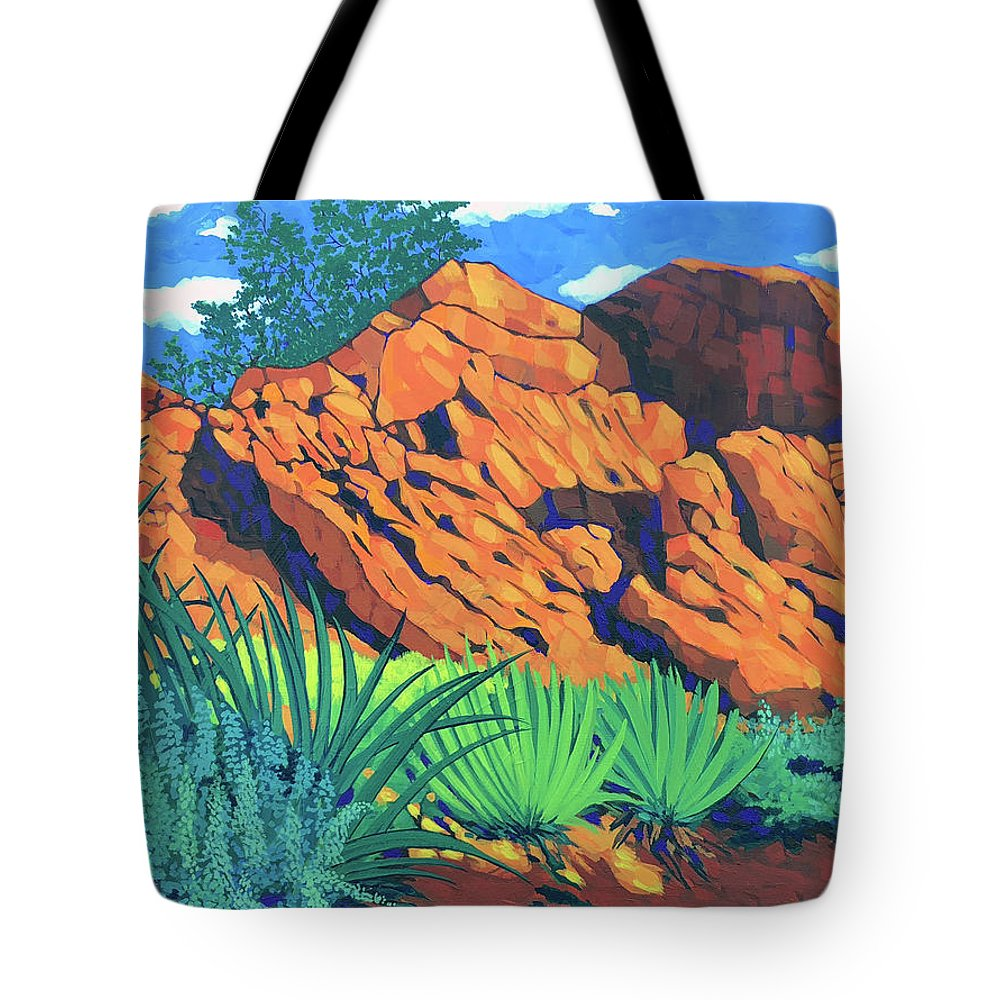 Southern Utah Tote Bag featuring the painting The Flicker Trail by Ken Church