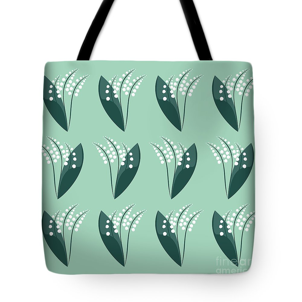 Lily Of The Valley Tote Bag featuring the digital art The Flower Garden by Kourai