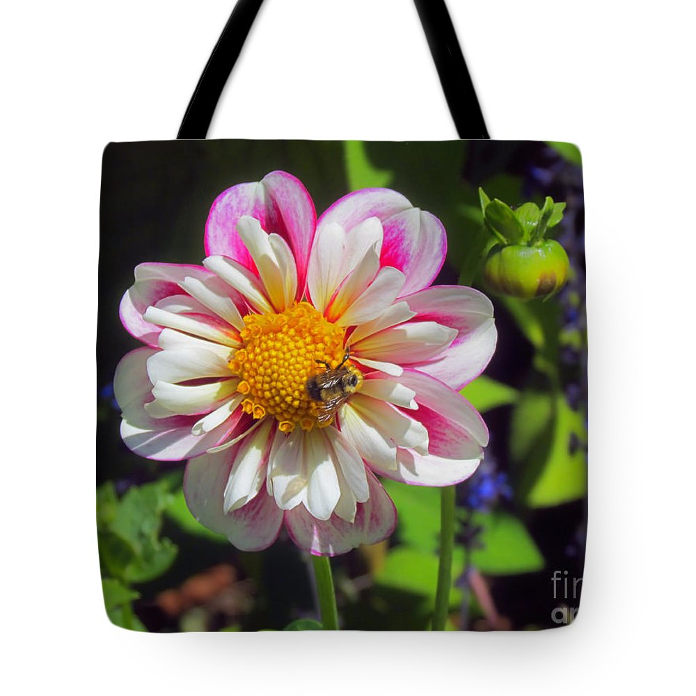 Bumblebee Tote Bag featuring the photograph The Flower Keeper by Elizabeth Dow