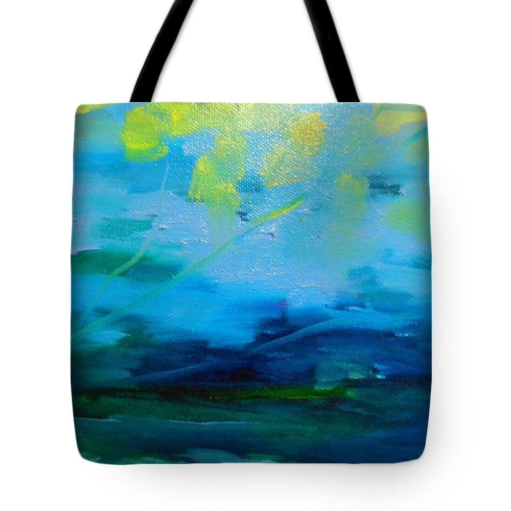 Truck Tote Bag featuring the painting The Fog by Lord Frederick Lyle Morris - Disabled Veteran