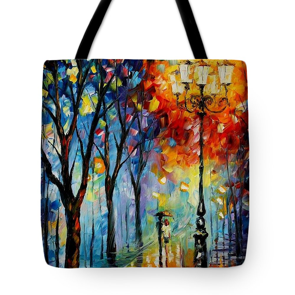 Afremov Tote Bag featuring the painting The Fog Of Dreams by Leonid Afremov