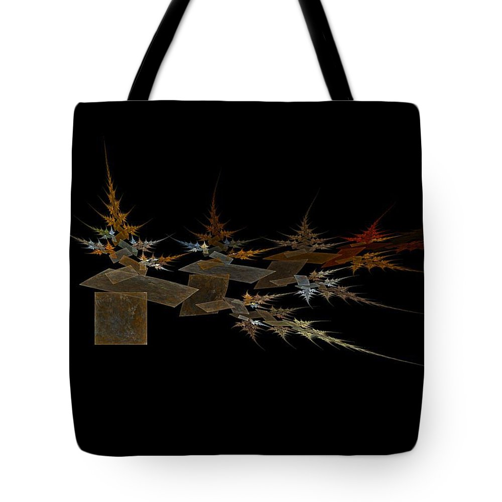 Digital Painting Tote Bag featuring the digital art The Forest Dark And Deep by Jackie Mueller-Jones