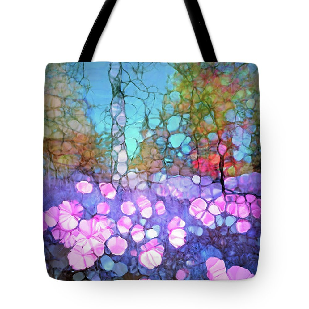 Light Tote Bag featuring the digital art The Forest Floor In Bloom by Tara Turner