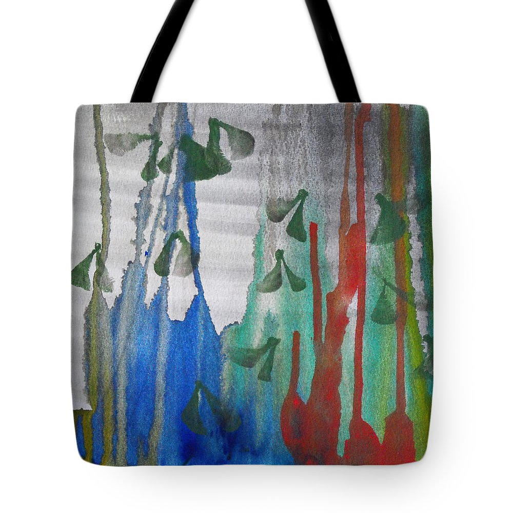 Abstract Tote Bag featuring the painting The Forest Primeval by Catherine Sprague