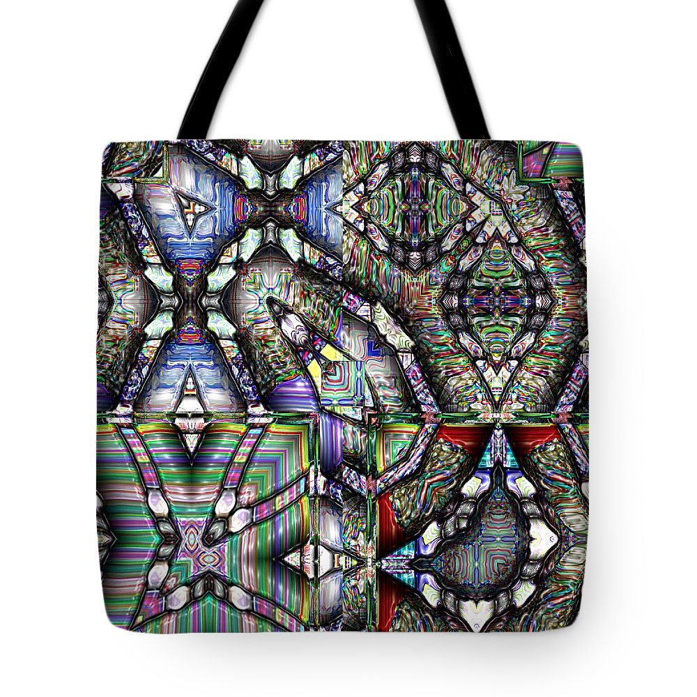 Abstract Tote Bag featuring the painting The Four Horsemen Of The Apocalypse by RC DeWinter