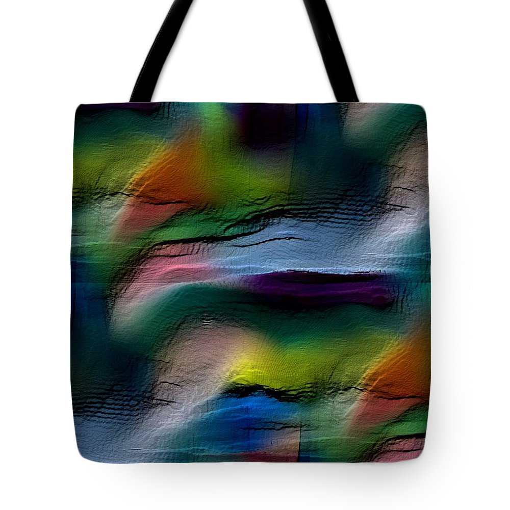 Abstract Tote Bag featuring the digital art The Future Looks Bright by Ruth Palmer