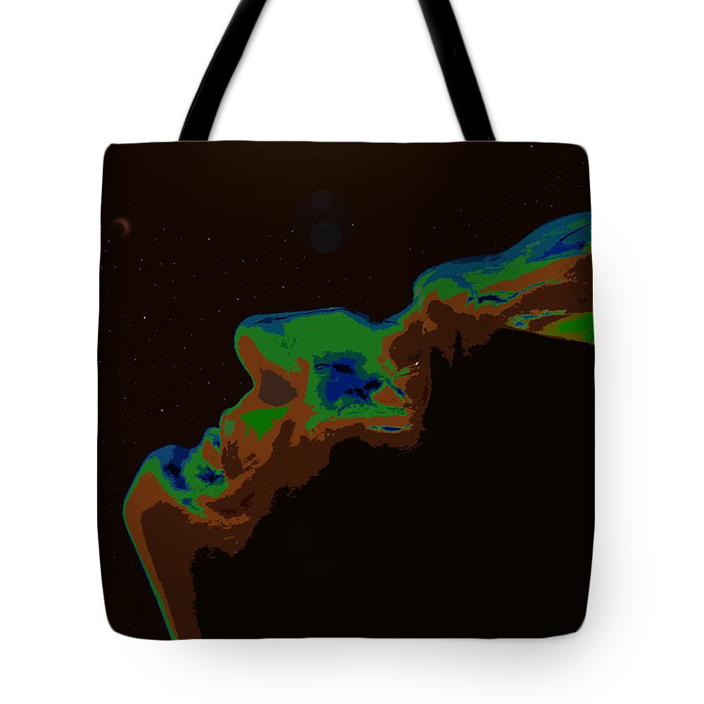 Future Tote Bag featuring the painting The Future Of Man by David Lee Thompson