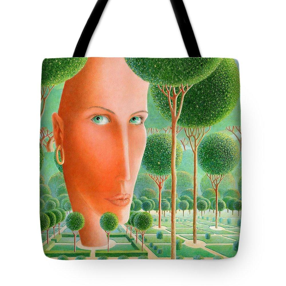 Giuseppe Mariotti Tote Bag featuring the painting The Garden by Giuseppe Mariotti