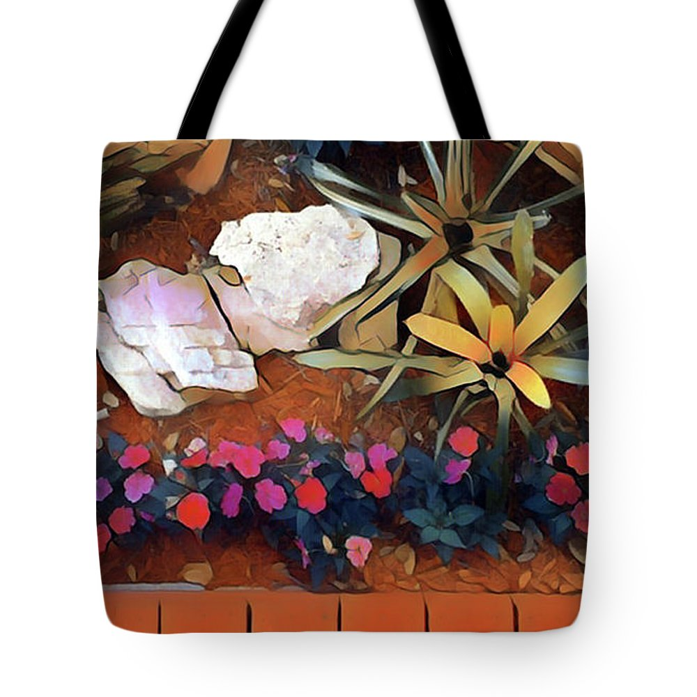 Garden Tote Bag featuring the digital art The Garden Party by Gary Greer